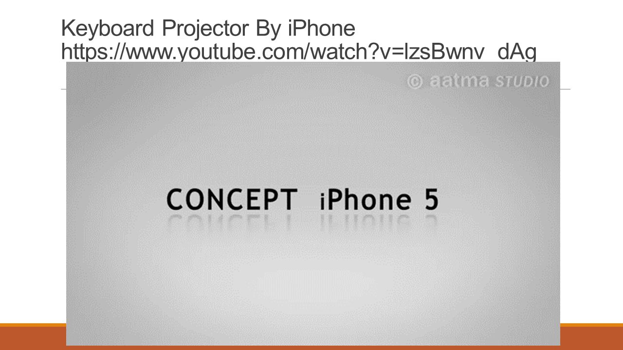 Keyboard Projector By iPhone https://www. youtube. com/watch