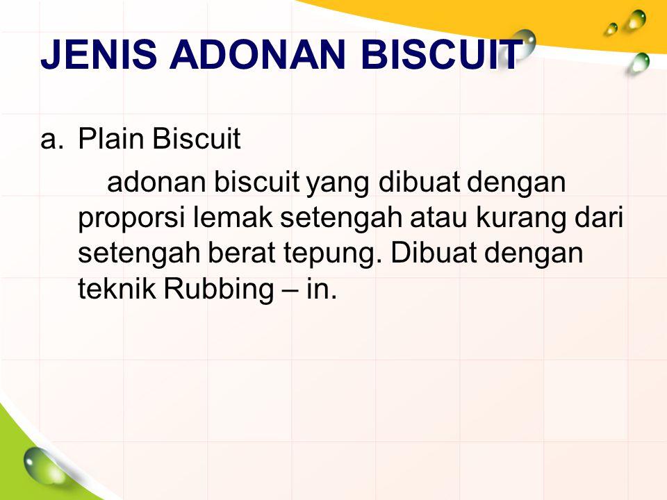 JENIS ADONAN BISCUIT Plain Biscuit