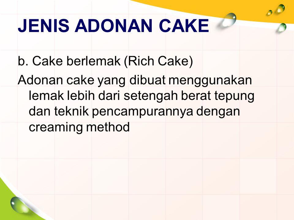 JENIS ADONAN CAKE