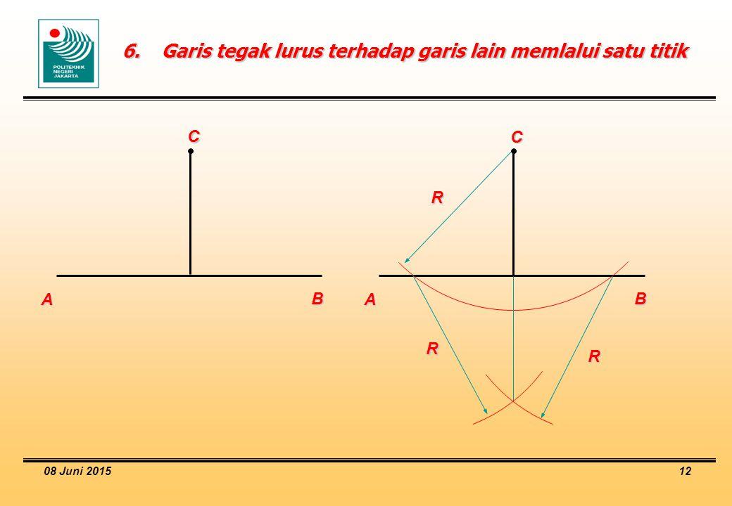 6. Garis tegak lurus terhadap garis lain memlalui satu titik
