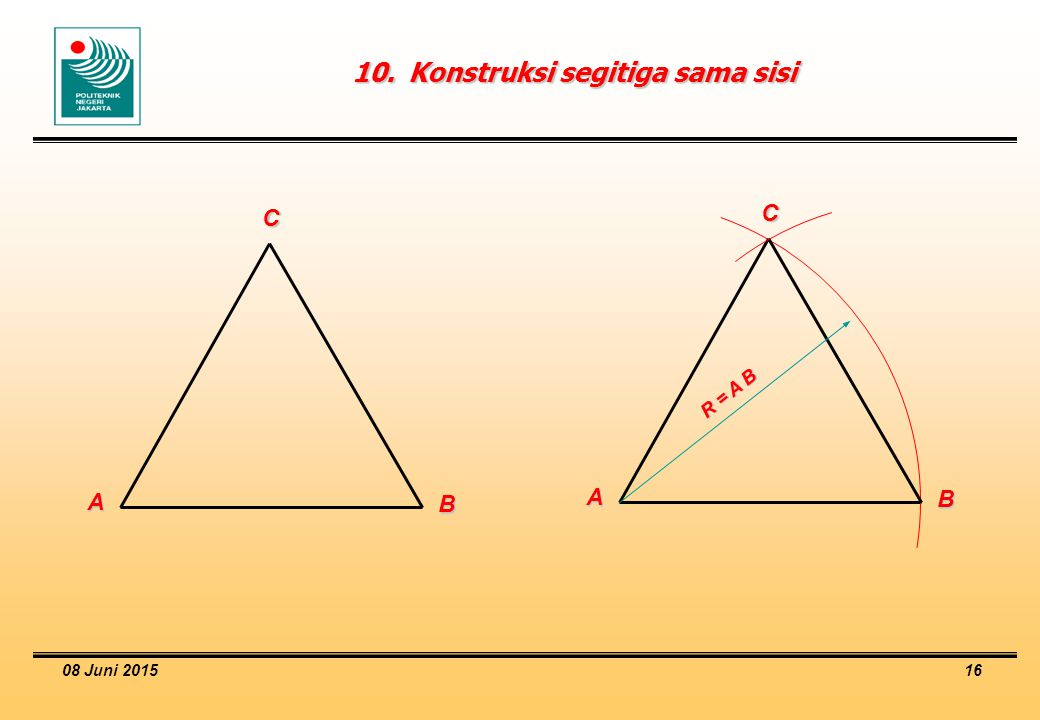 10. Konstruksi segitiga sama sisi