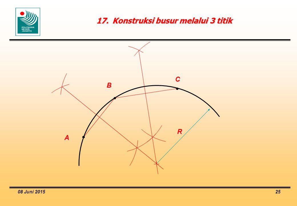 17. Konstruksi busur melalui 3 titik