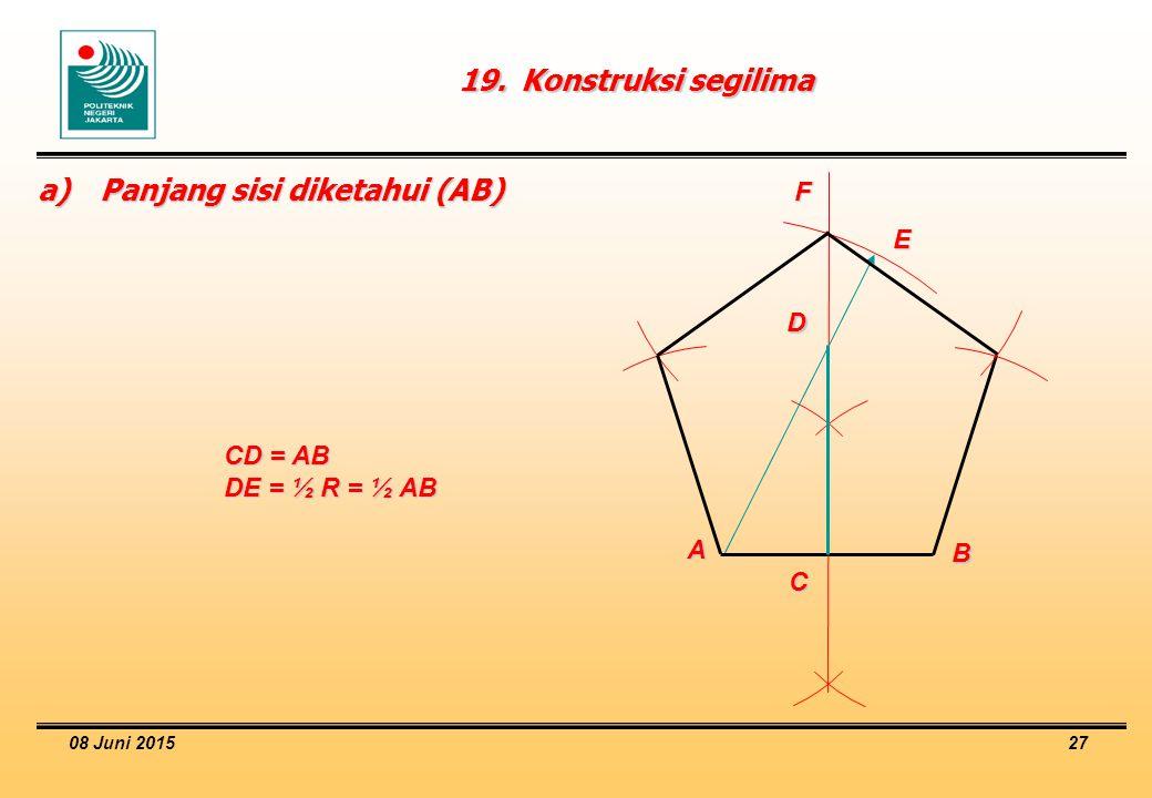 a) Panjang sisi diketahui (AB)