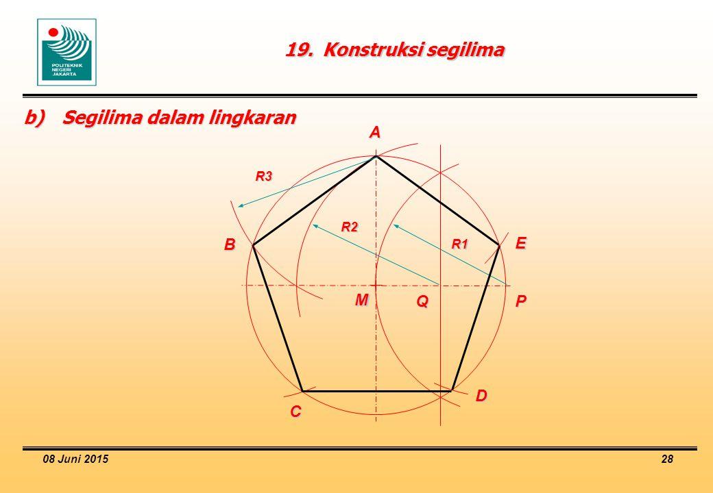 b) Segilima dalam lingkaran
