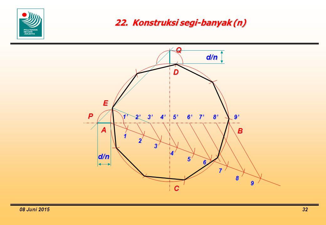 22. Konstruksi segi-banyak (n)