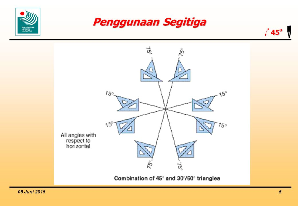 Penggunaan Segitiga 45o 16 April 2017