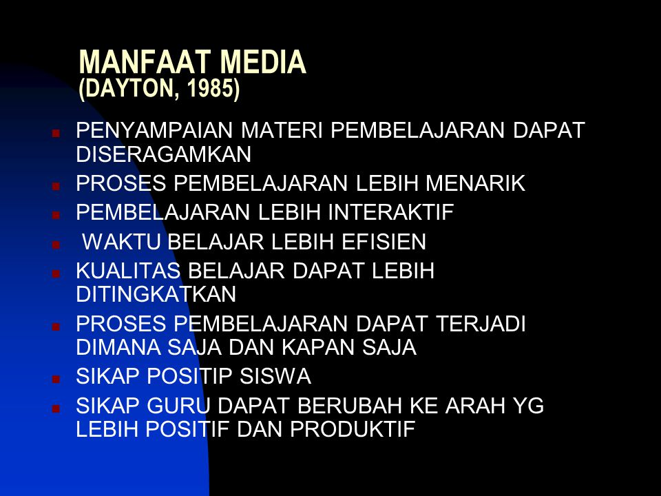 MANFAAT MEDIA (DAYTON, 1985)