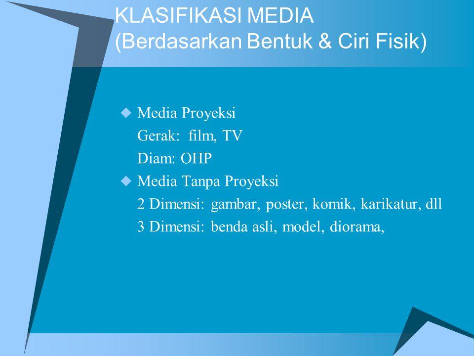 KLASIFIKASI MEDIA (Berdasarkan Bentuk & Ciri Fisik)