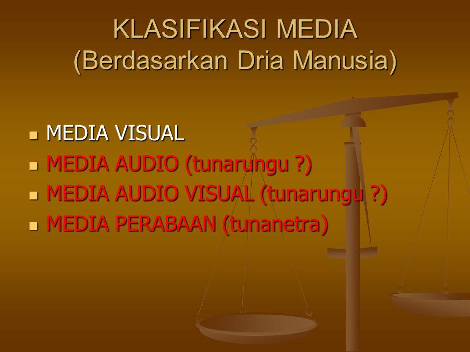 KLASIFIKASI MEDIA (Berdasarkan Dria Manusia)