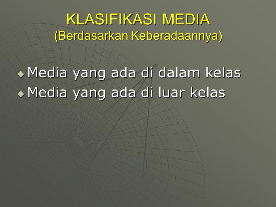 KLASIFIKASI MEDIA (Berdasarkan Keberadaannya)