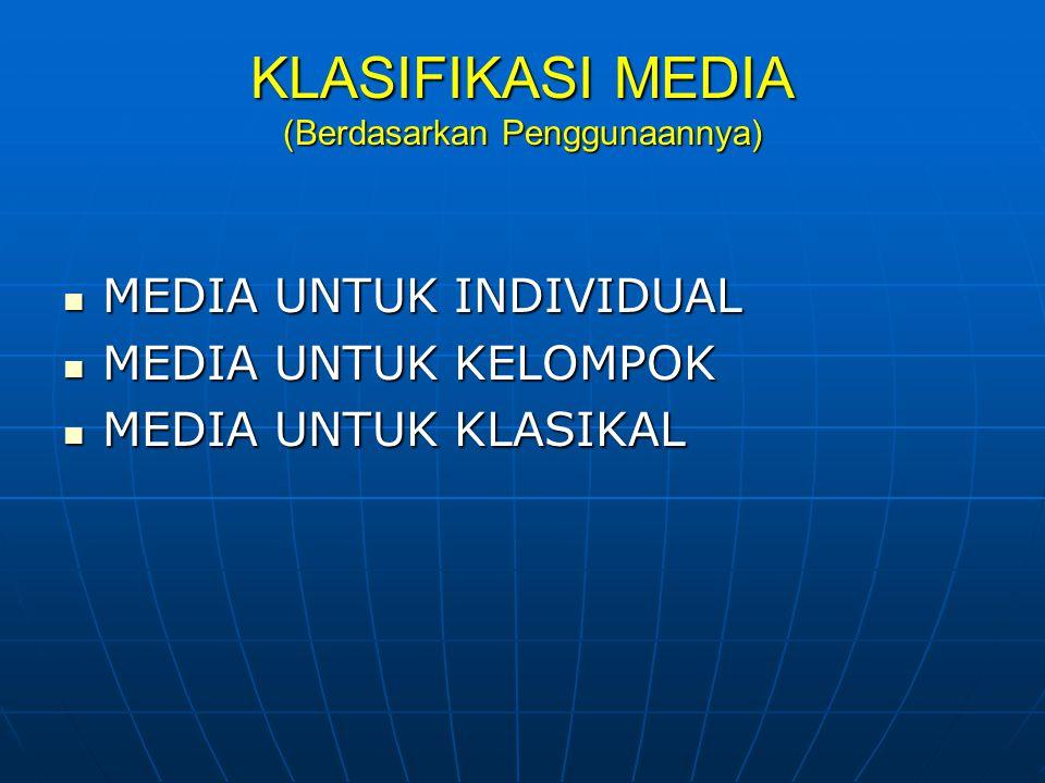 KLASIFIKASI MEDIA (Berdasarkan Penggunaannya)