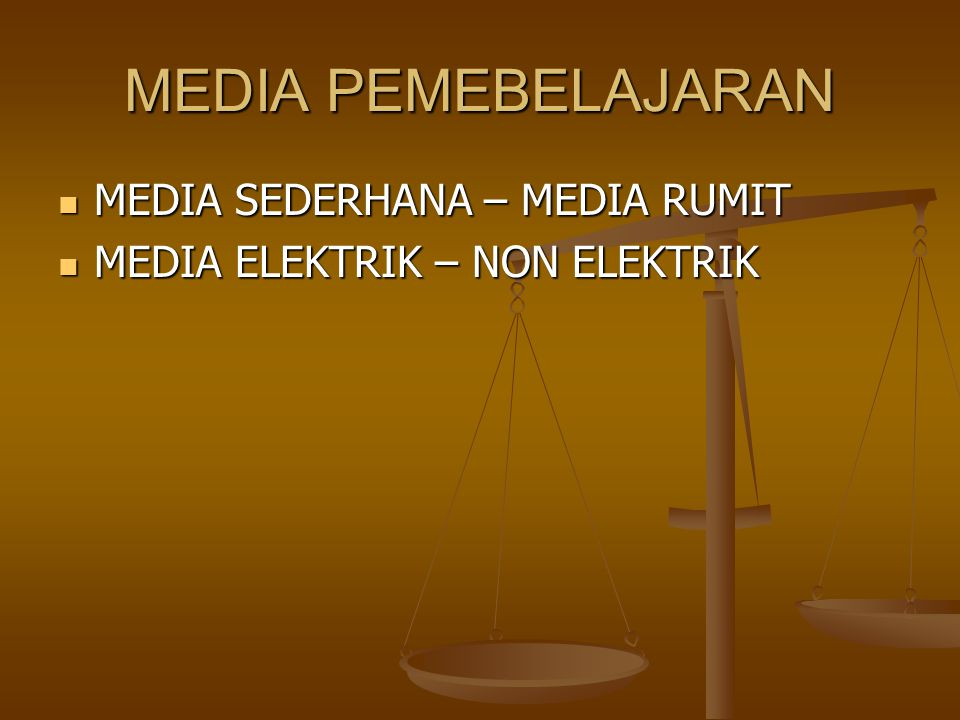 MEDIA PEMEBELAJARAN MEDIA SEDERHANA – MEDIA RUMIT