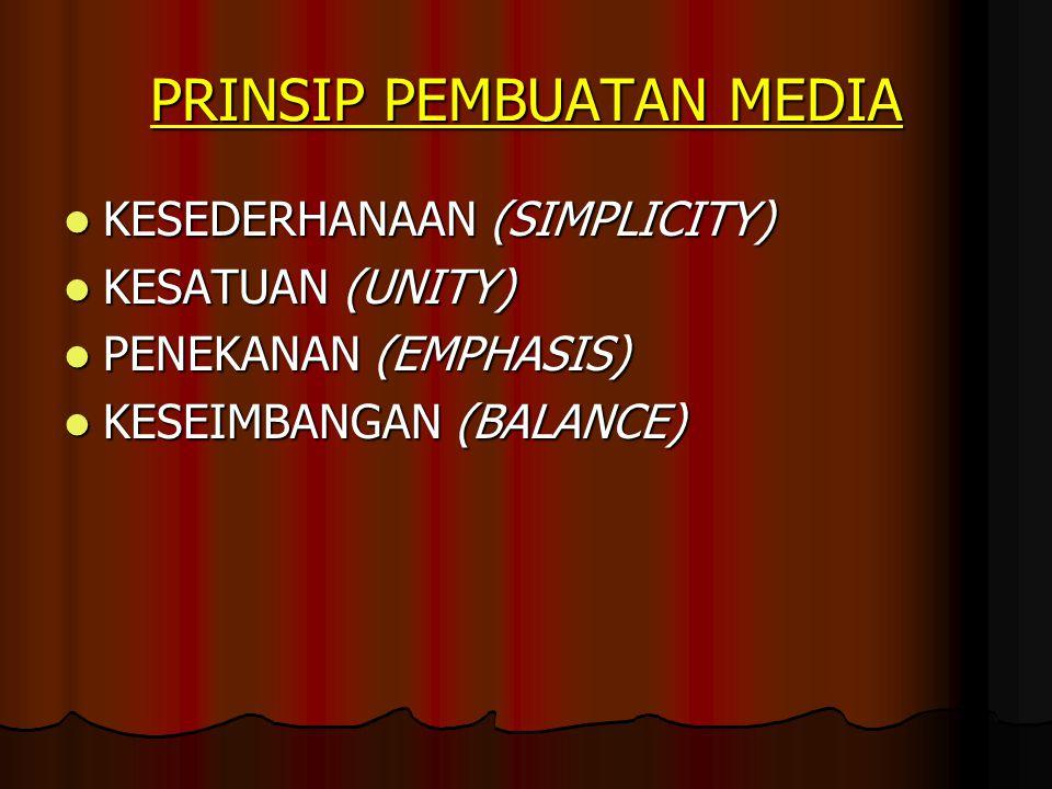 PRINSIP PEMBUATAN MEDIA