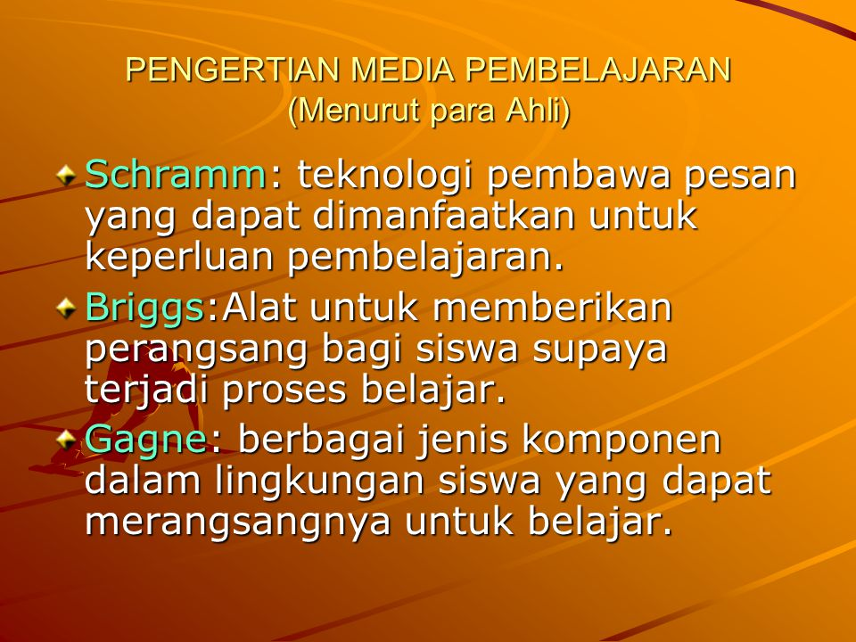 PENGERTIAN MEDIA PEMBELAJARAN (Menurut para Ahli)