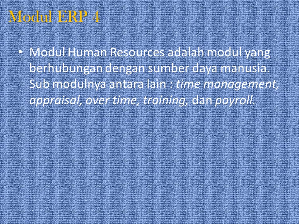 Modul ERP 4