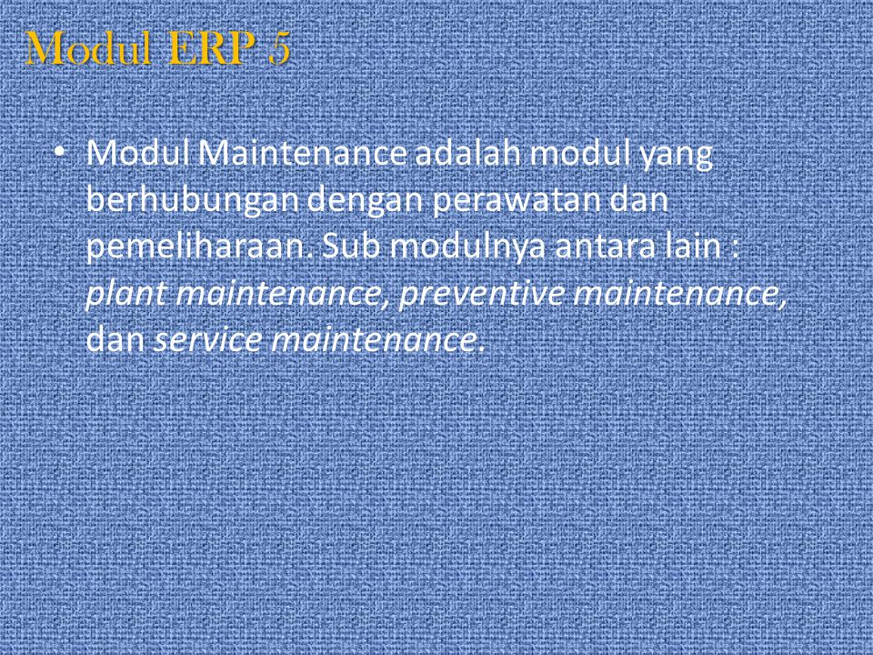 Modul ERP 5