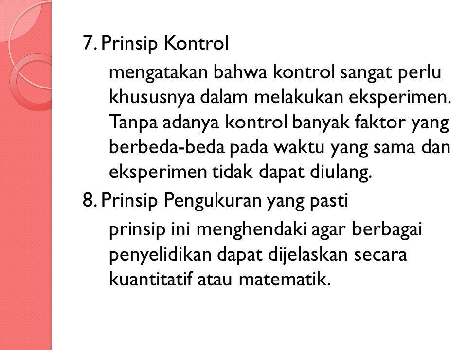 7. Prinsip Kontrol