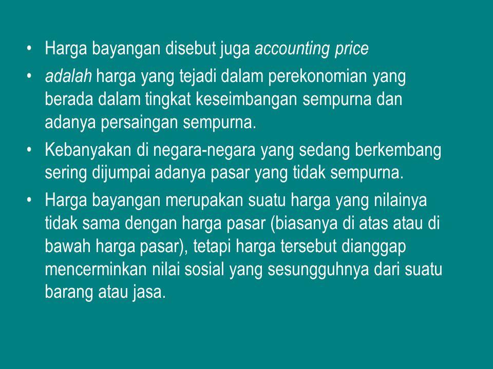 Harga bayangan disebut juga accounting price