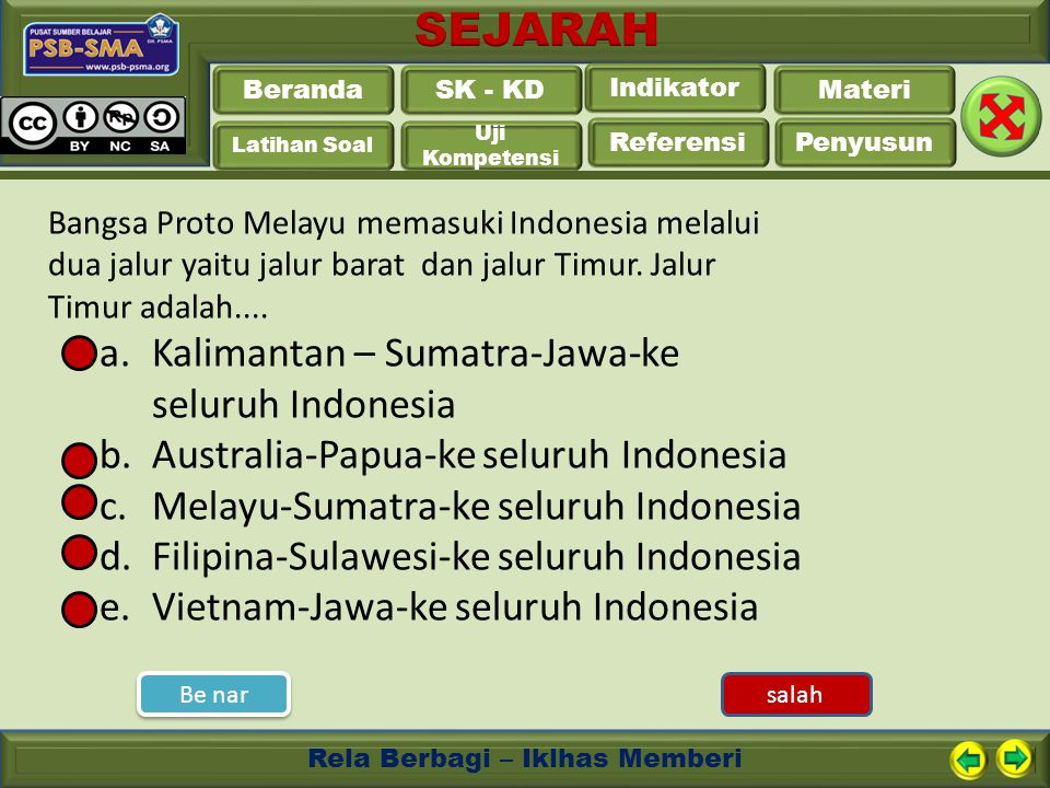 Kalimantan – Sumatra-Jawa-ke seluruh Indonesia