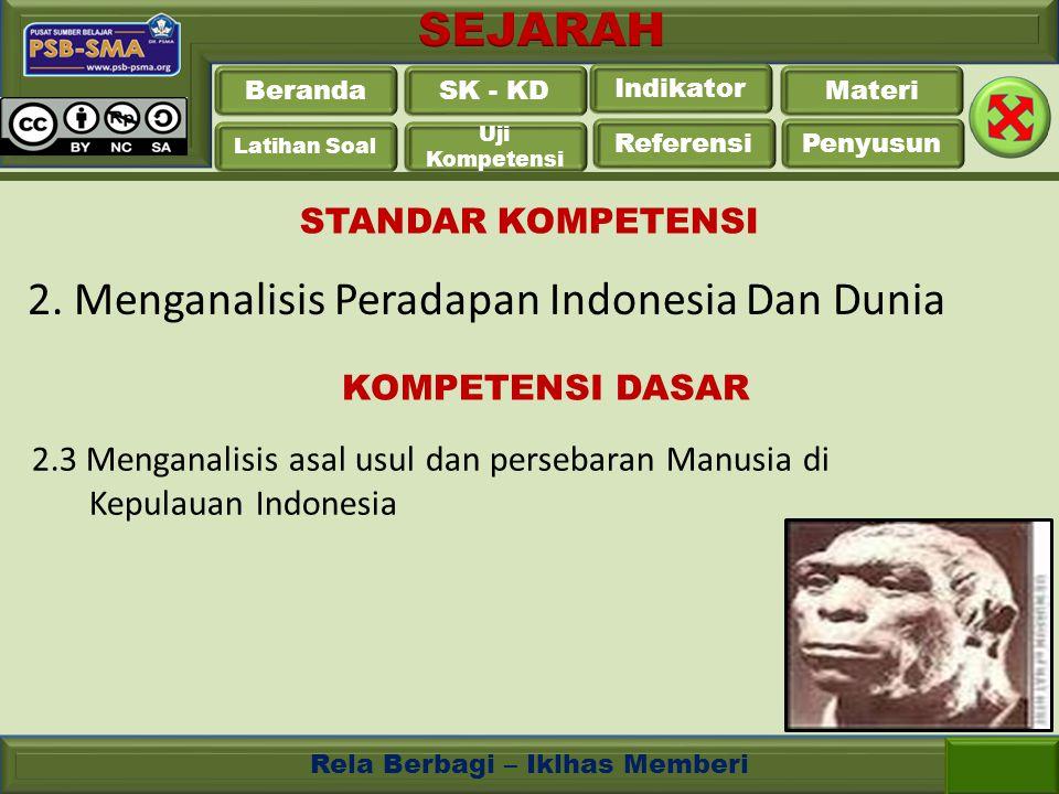2. Menganalisis Peradapan Indonesia Dan Dunia