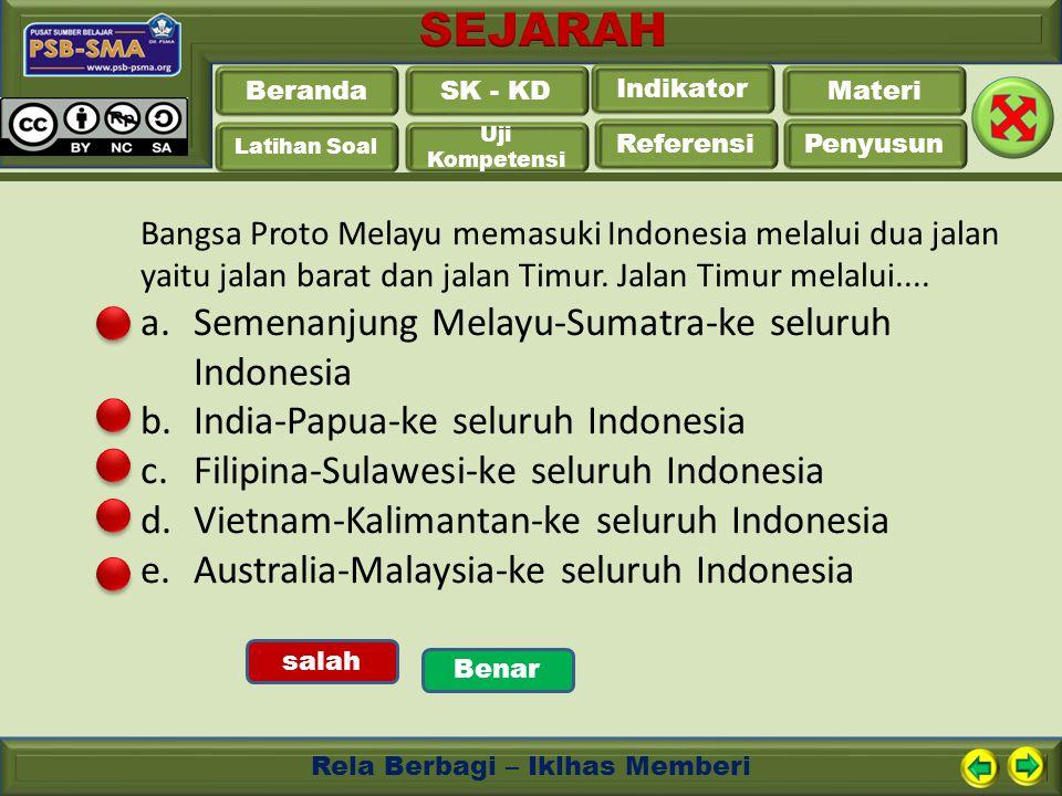 Semenanjung Melayu-Sumatra-ke seluruh Indonesia