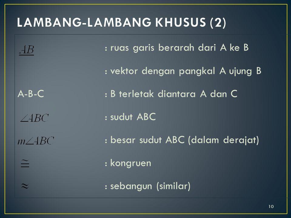 LAMBANG-LAMBANG KHUSUS (2)