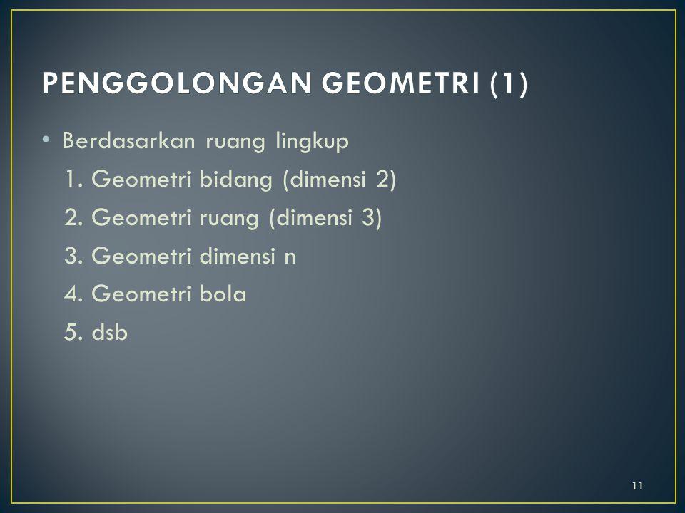PENGGOLONGAN GEOMETRI (1)
