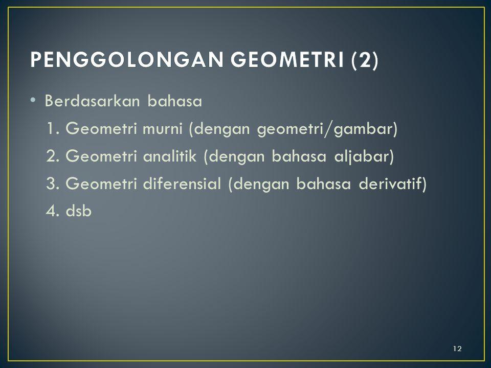 PENGGOLONGAN GEOMETRI (2)