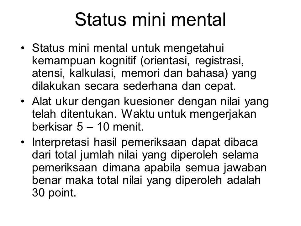 Status mini mental
