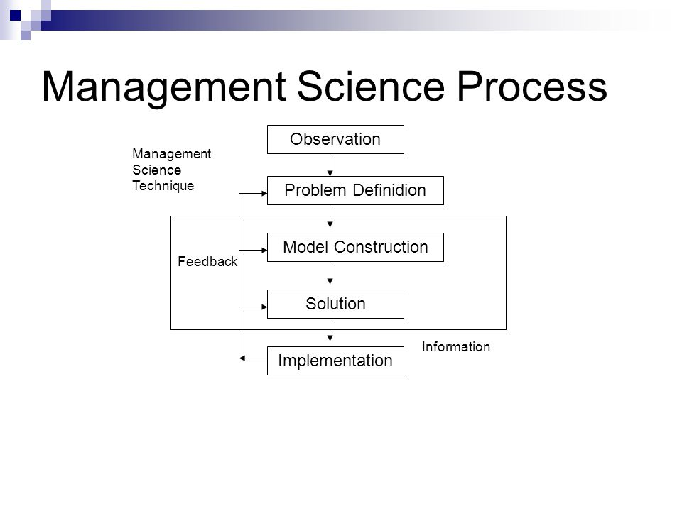 Management Science Process