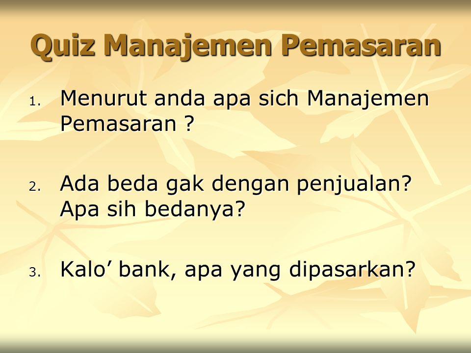 Quiz Manajemen Pemasaran