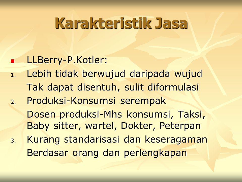 Karakteristik Jasa LLBerry-P.Kotler: