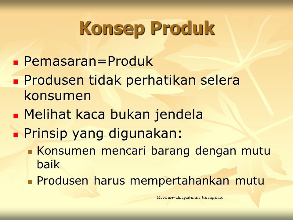 Konsep Produk Pemasaran=Produk