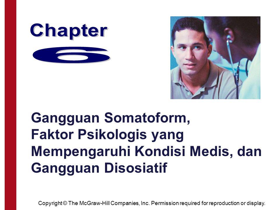 Chapter 6. Gangguan Somatoform, Faktor Psikologis yang Mempengaruhi Kondisi Medis, dan Gangguan Disosiatif.