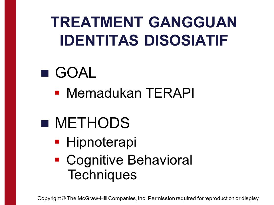 TREATMENT GANGGUAN IDENTITAS DISOSIATIF