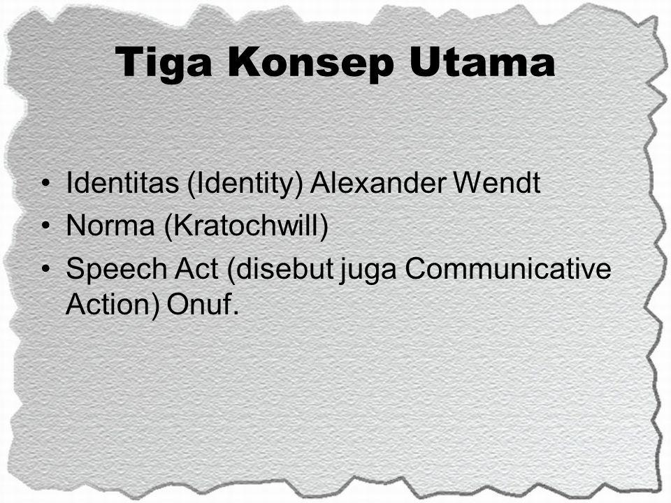 Tiga Konsep Utama Identitas (Identity) Alexander Wendt