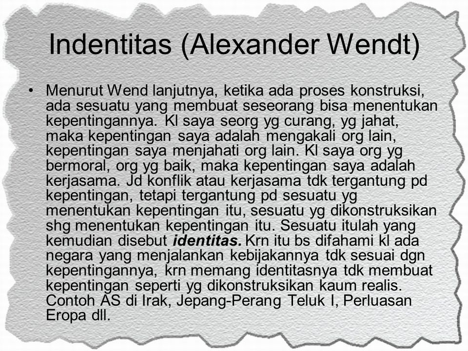 Indentitas (Alexander Wendt)