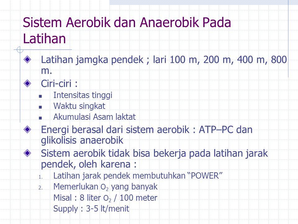 Sistem Aerobik dan Anaerobik Pada Latihan