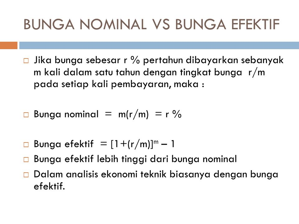 BUNGA NOMINAL VS BUNGA EFEKTIF