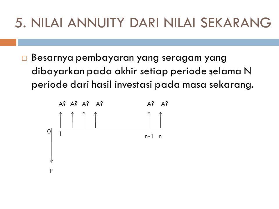 5. NILAI ANNUITY DARI NILAI SEKARANG