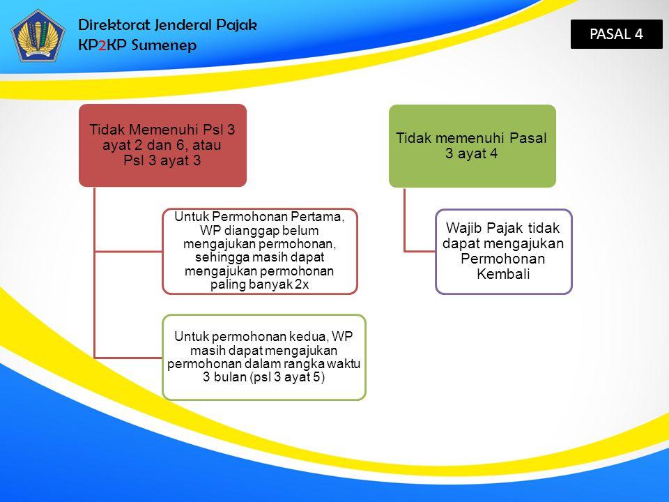 Direktorat Jenderal Pajak KP2KP Sumenep PASAL 4