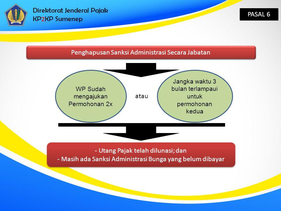 Direktorat Jenderal Pajak KP2KP Sumenep PASAL 6