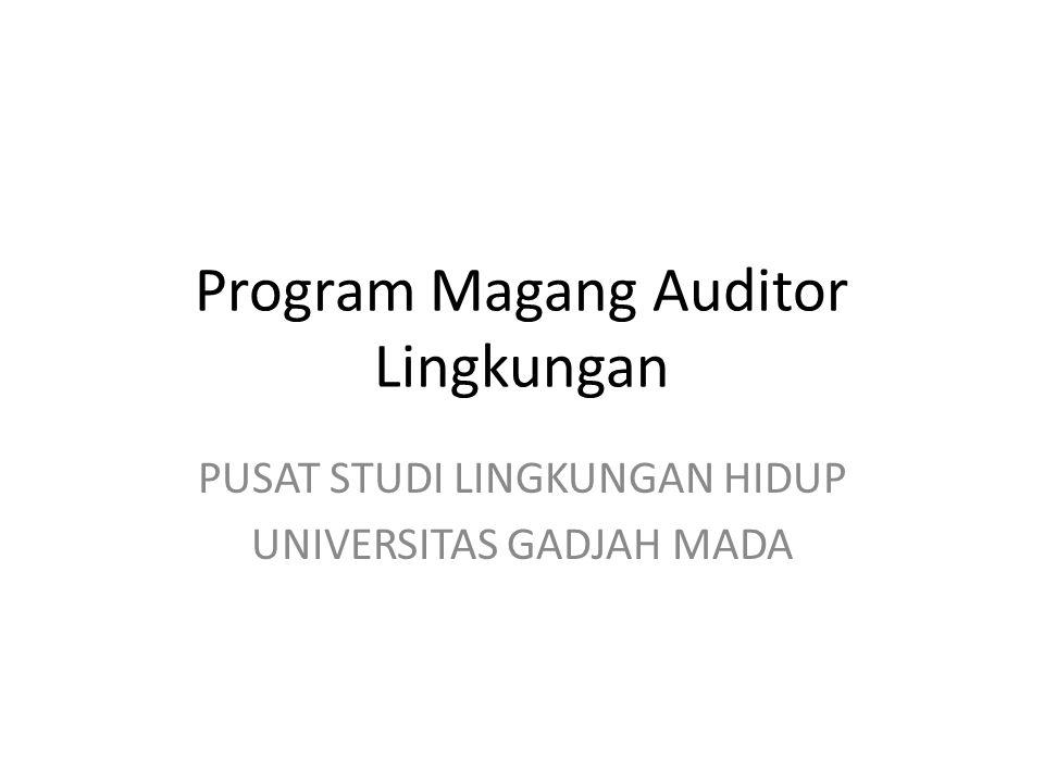 Program Magang Auditor Lingkungan