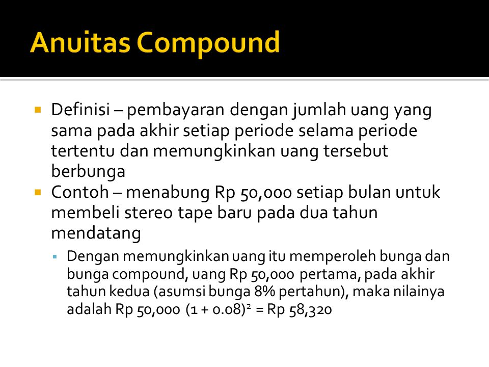 Anuitas Compound