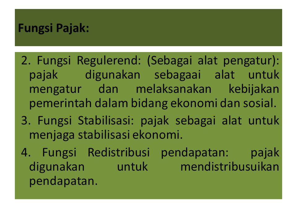 Fungsi Pajak: