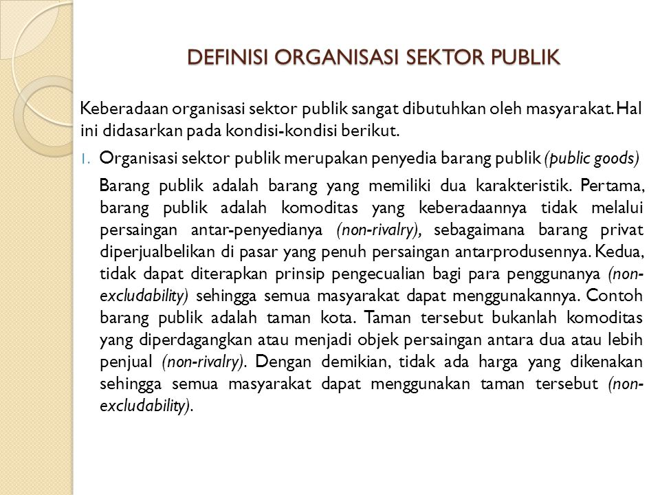 DEFINISI ORGANISASI SEKTOR PUBLIK