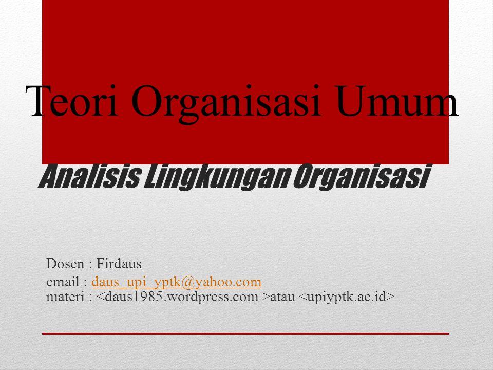 Analisis Lingkungan Organisasi