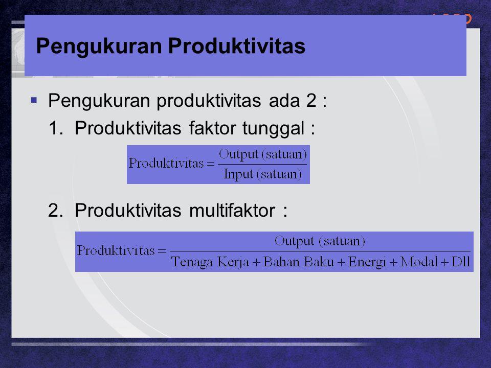 Pengukuran Produktivitas