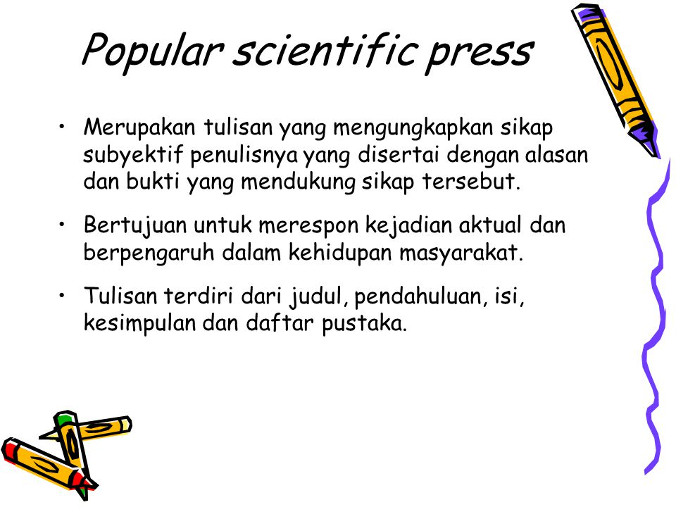 Popular scientific press