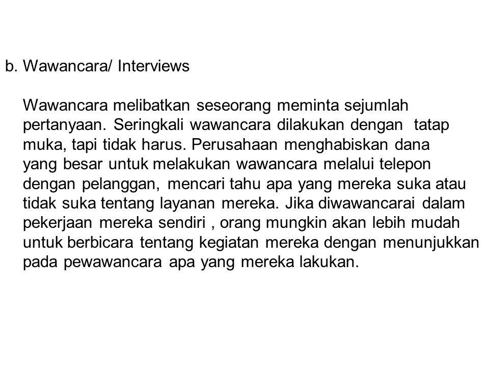 b. Wawancara/ Interviews